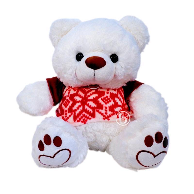 Istana Boneka Ivonne Bear White with Baju STD  [24 Inch]