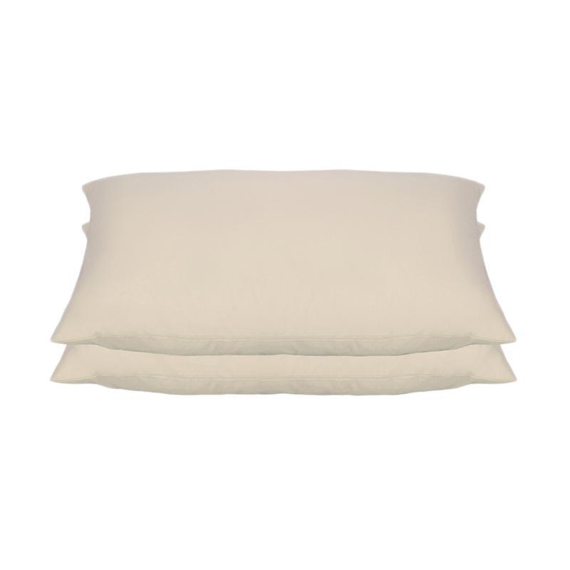 Tren-D-home Polos Set Sarung Bantal Tidur - Cream Pastel Series [50 x 70 cm/2 pcs]