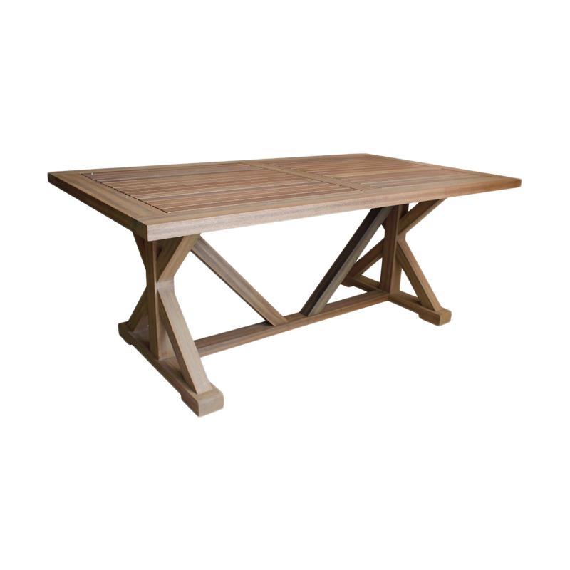 Thema Home 5525 1115 Farmhouse Table Meja Outdoor - Brown