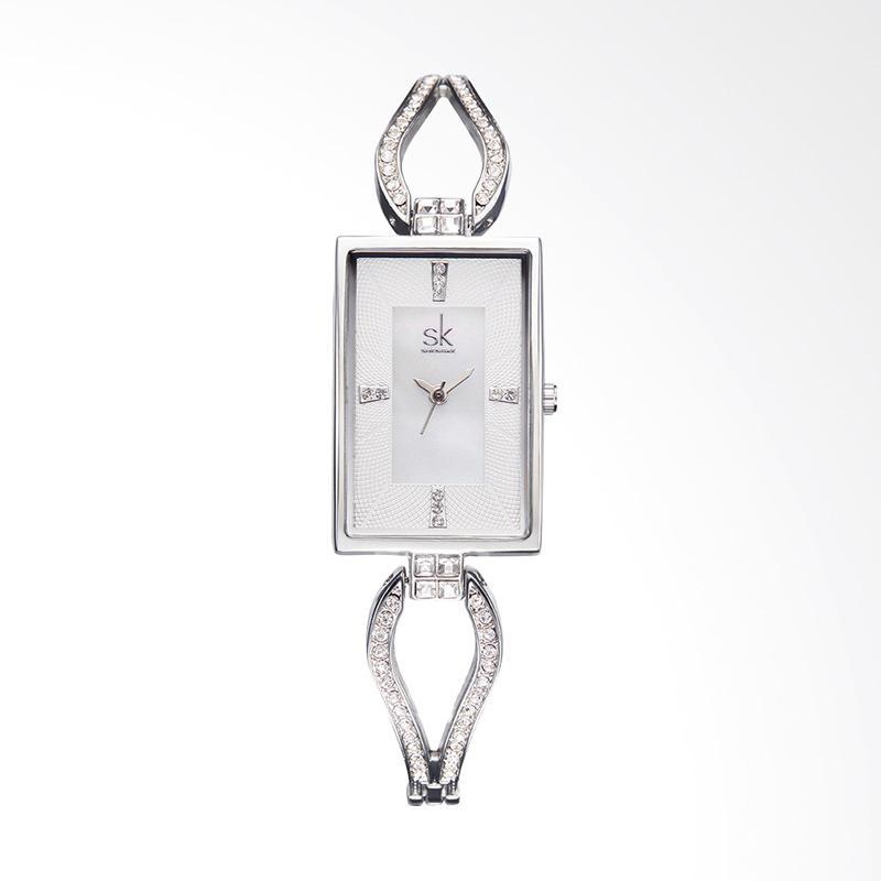 SHENGKE SK0021H Rectangular Diamond Luxury Fashion Ladies Watch Jam Tangan Wanita