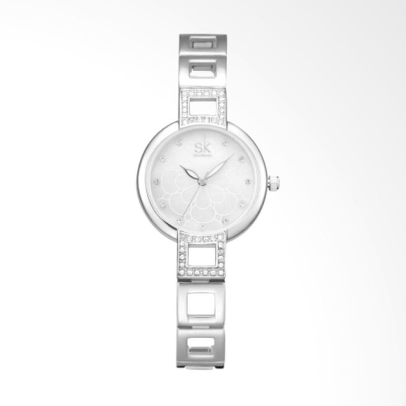 SHENGKE SK0019H Luxury Diamond Fashion Ladies Stainless Steel Watch Jam Tangan Wanita