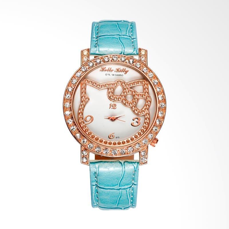 harga Hello Kitty WAT04154B Fashion Luxury Diamond Lady Cartoon Watch Jam Tangan Anak Perempuan - Blue Blibli.com