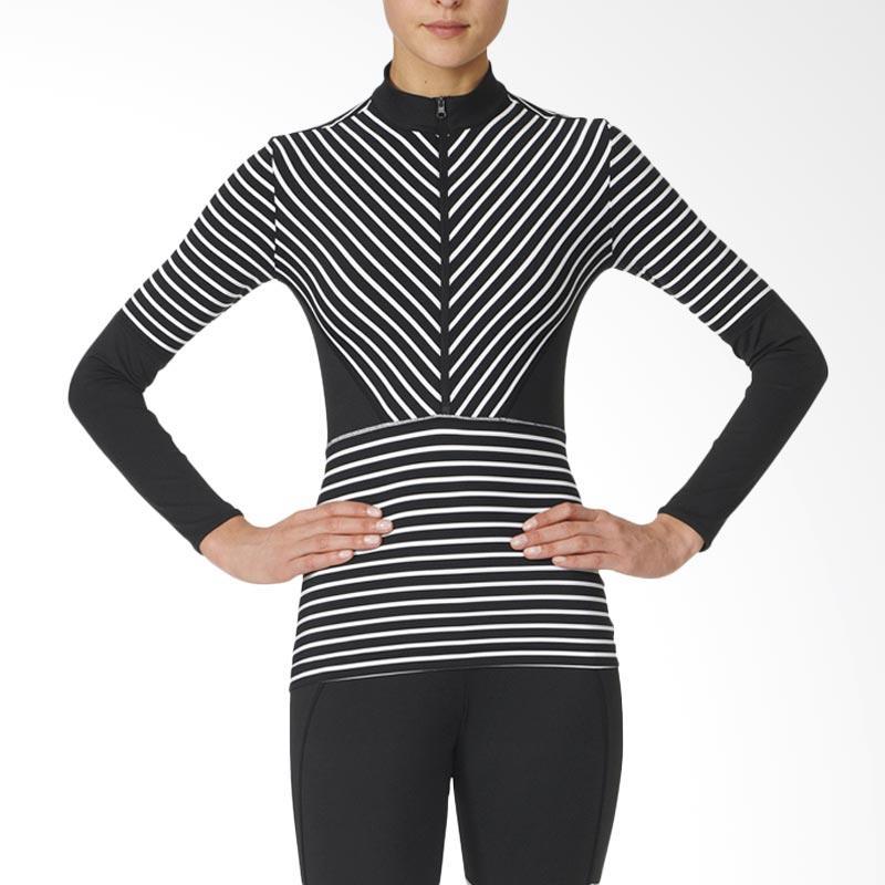 adidas Originals Studio S Long Sleeve Atasan Olahraga Wanita - Black/White [AX7056]