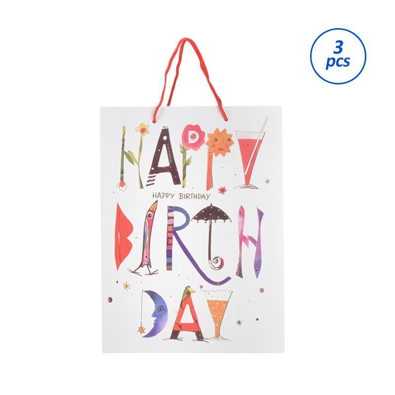 Karisma 740555 Kemeja Happy Brith Day Mata Shopping Bag [3 pcs]