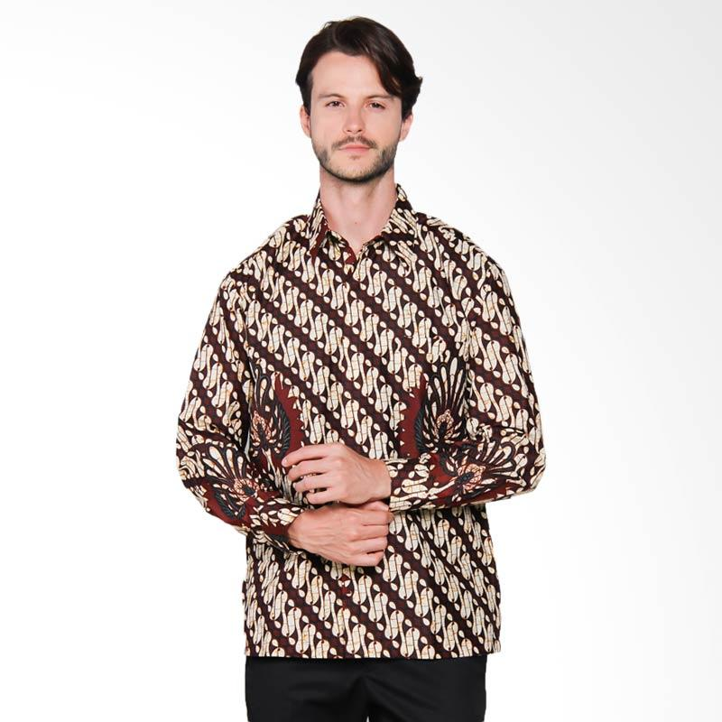 AWANA Modern Slim Fit Parang Garuda Kemeja Batik Pria - Brown