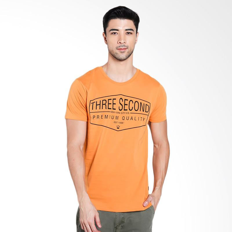 3SECOND Men 2312 T-Shirt Pria - Yellow