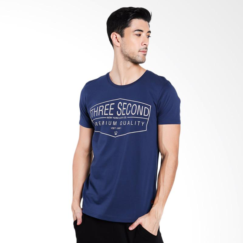3SECOND Men 5212 T-Shirt Pria - Blue [152121712]