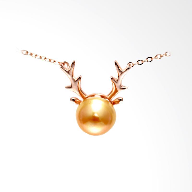 Tiaria December Deer Pearl Perhiasan Kalung Emas Mutiara [18K]