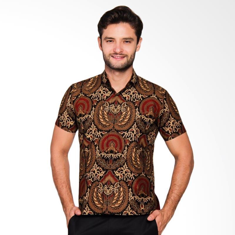 Adiwangsa Model Modern Slim Fit Baju Kemeja Batik Pria [006]