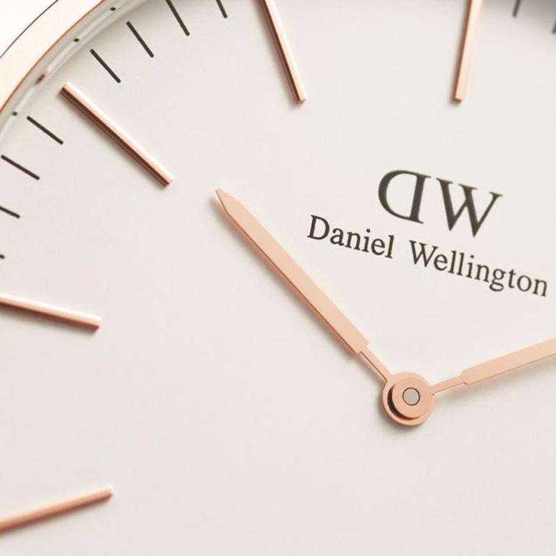 Daniel Wellington Classic Durham Strap Kulit Jam Tangan Pria - Rose Gold [ 40mm]