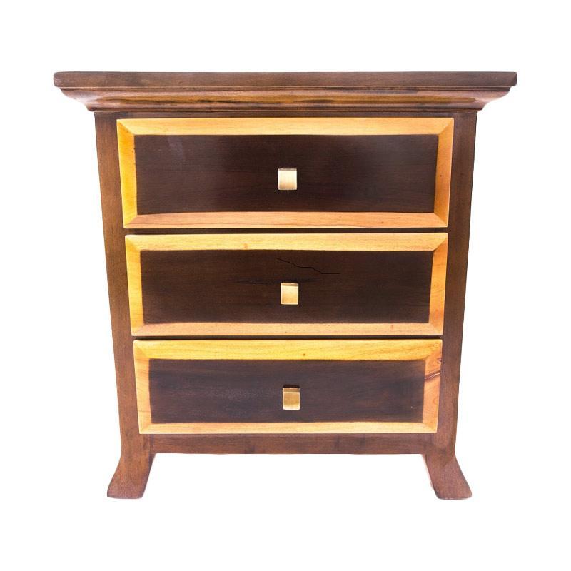 LD Furniture Panil 3dw Meja Nakas - Brown