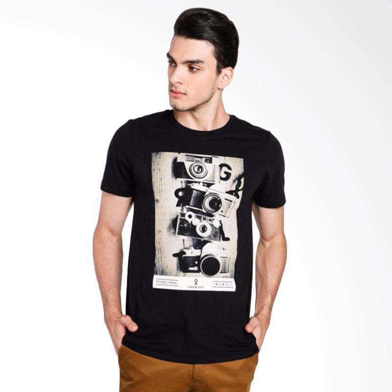 Greenlight Men 7412 T-Shirt Pria - Black