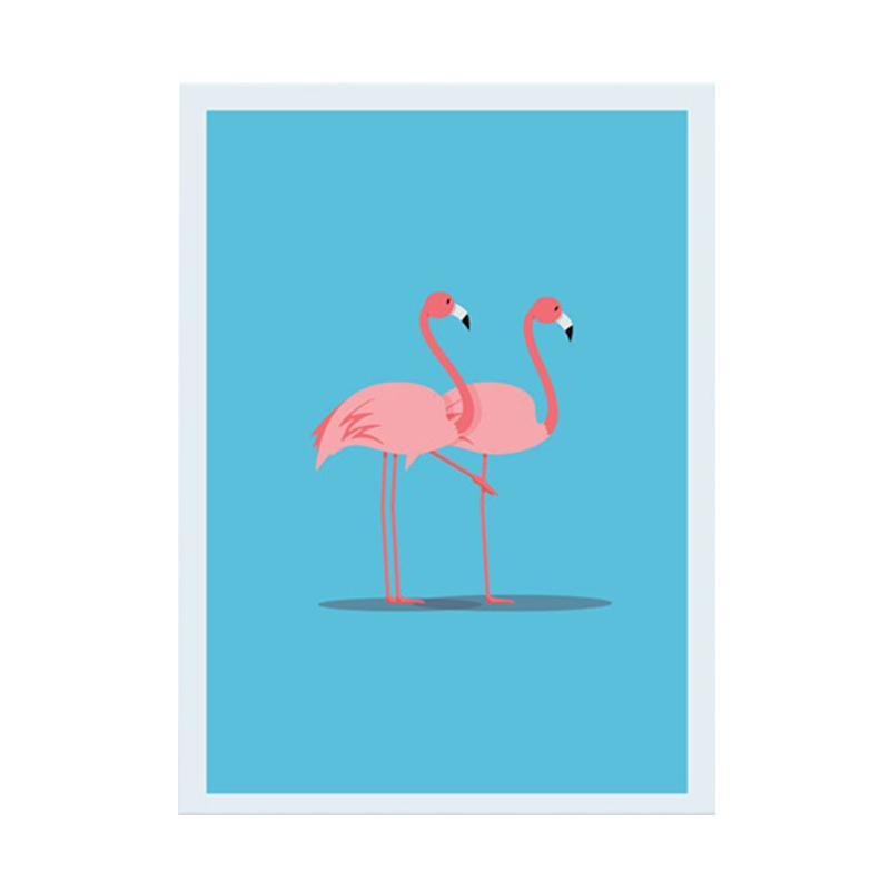 Cadrehome Two Flamingo 5r Dekorasi Dinding