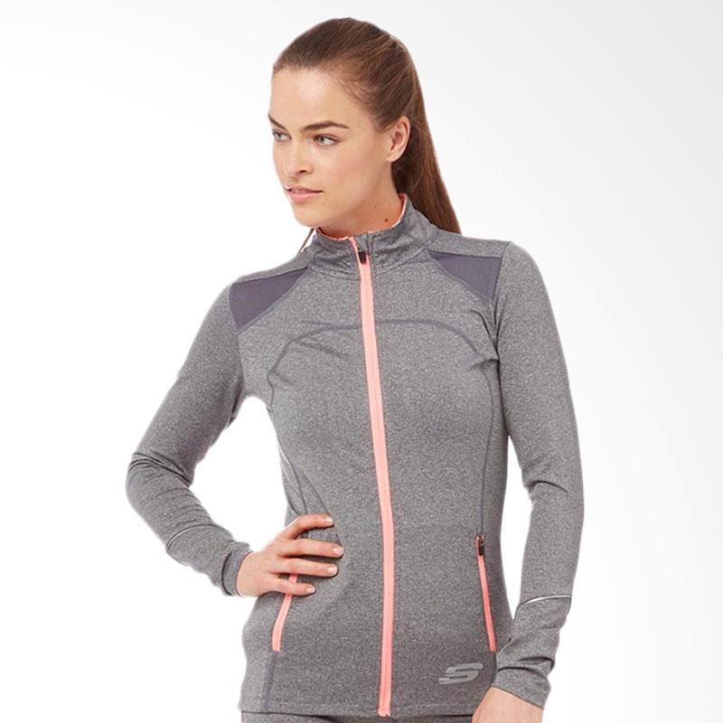 Skechers Leia Womens Jacket Misty Running Jaket Olahraga Wanita - Grey [SKEJK46322GY]