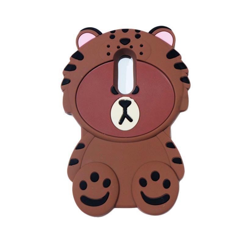 QCF Softcase 4D Karakter Beruang Kostum Singa Silicone Casing for Xiaomi Redmi Note 4 - Coklat