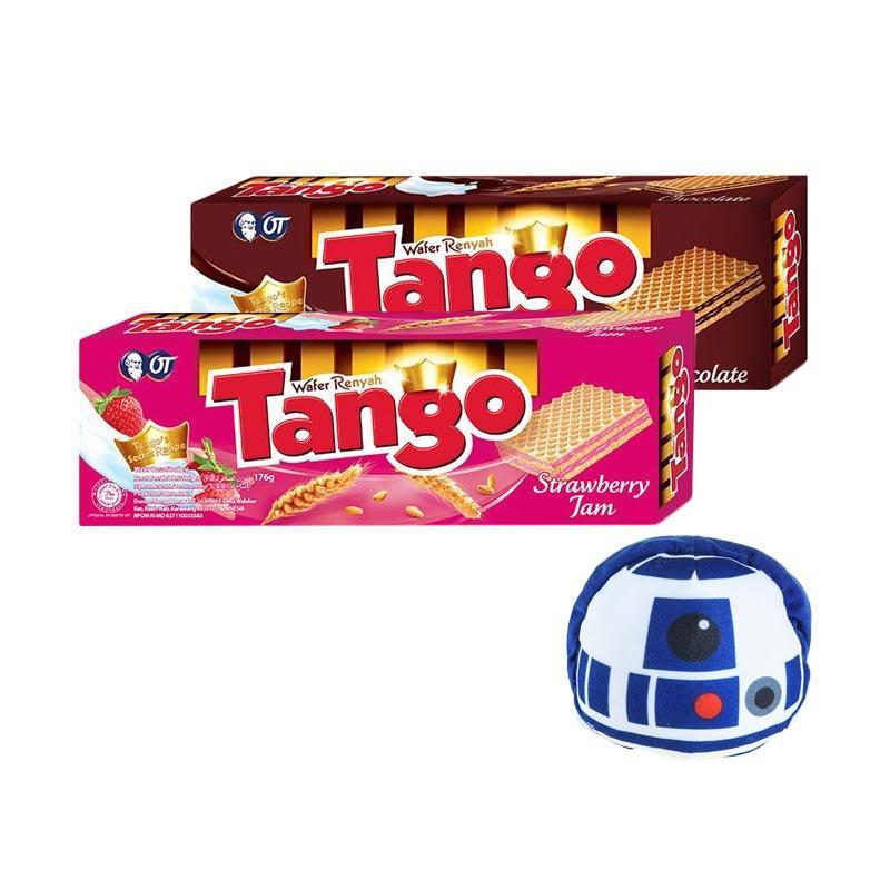 harga Tango Wafer Chocolate [176 g] + Tango Wafer Strawberry [176 g] + Tsum Tsum Tango R2D2 Blibli.com
