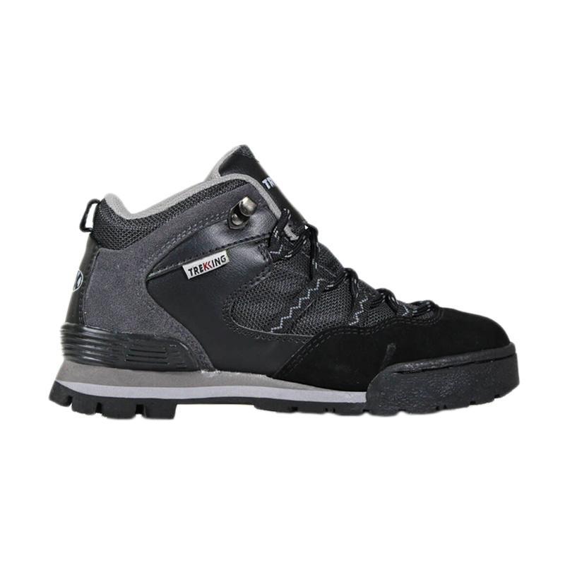 harga Trekking Adventure Suede Leather Boots Sepatu Gunung - Grey Black [TMS115] Blibli.com