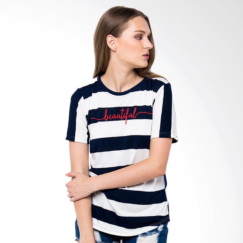 Boontie Maureta T-Shirt Wanita - Navy