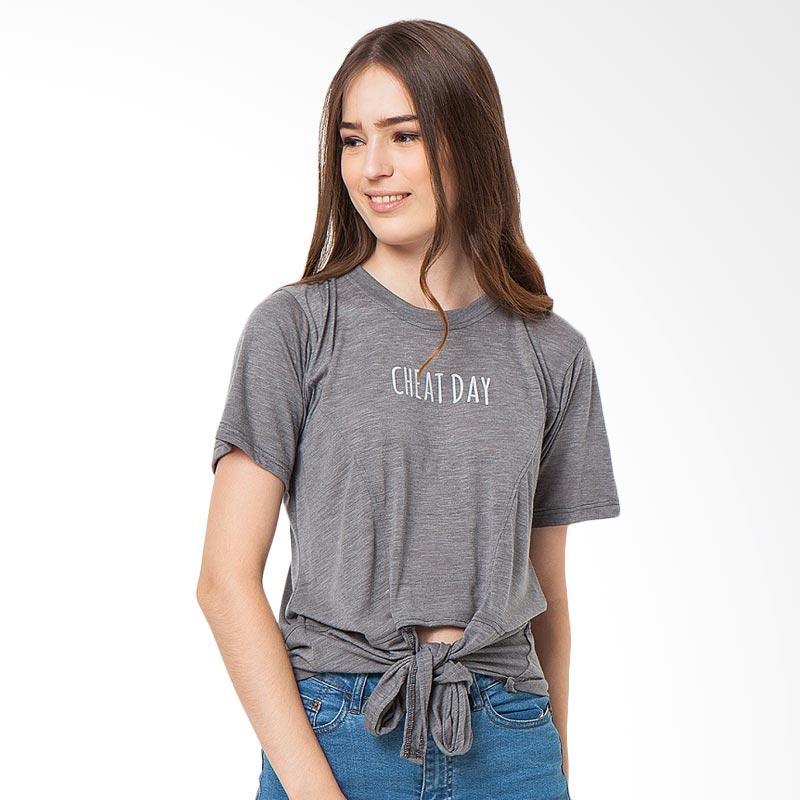 Boontie Cheat Day T-Shirt Wanita - Dark Grey