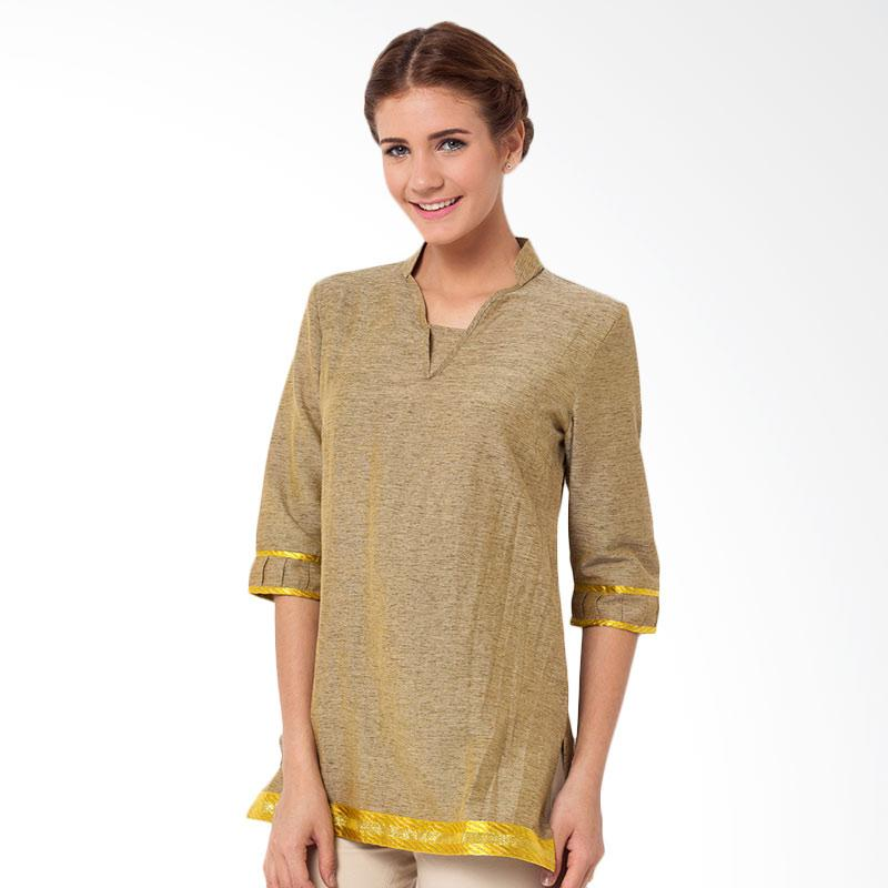 A&D Fashion MS 678 3/4 Sleeve Tunik Wanita - Yellow