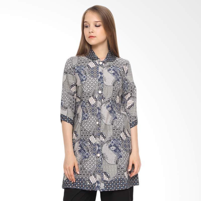 A&D Fashion Ms 807 Batik Atasan Wanita - Grey