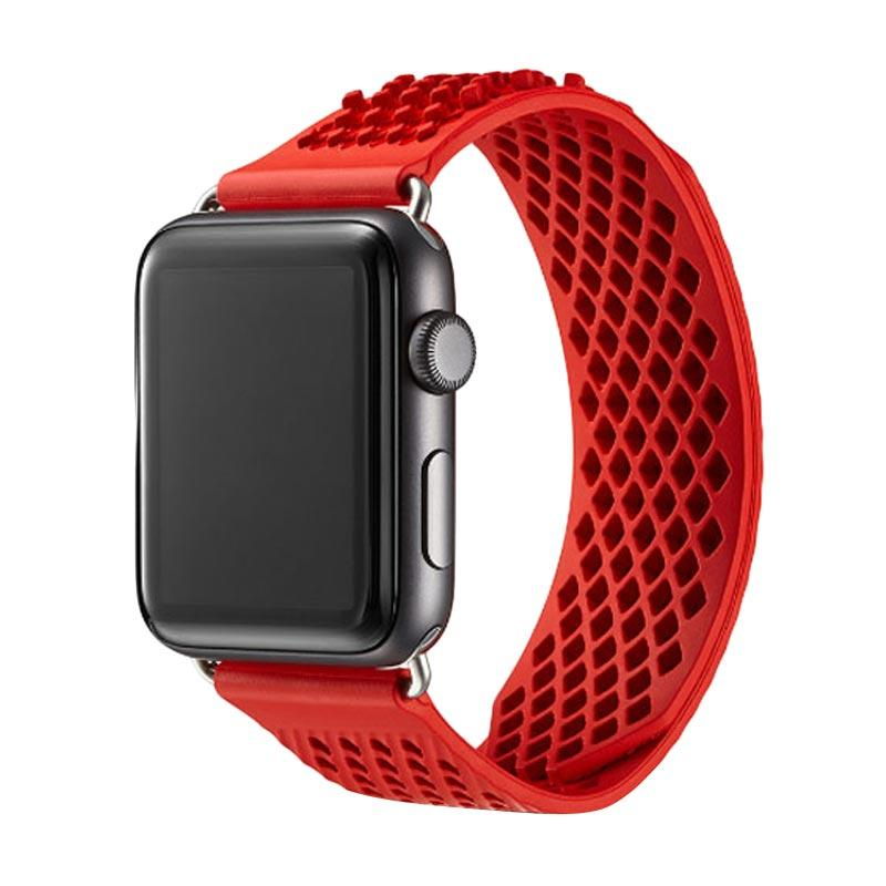 LOLLYPOP Diamond Grip Sports Band Strap for Apple Watch 42 mm - Red