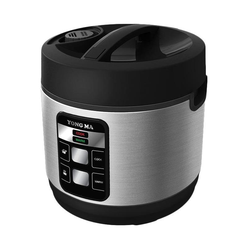 Yong Ma YMC 114 Rice Cooker - Black Silver [2 L]