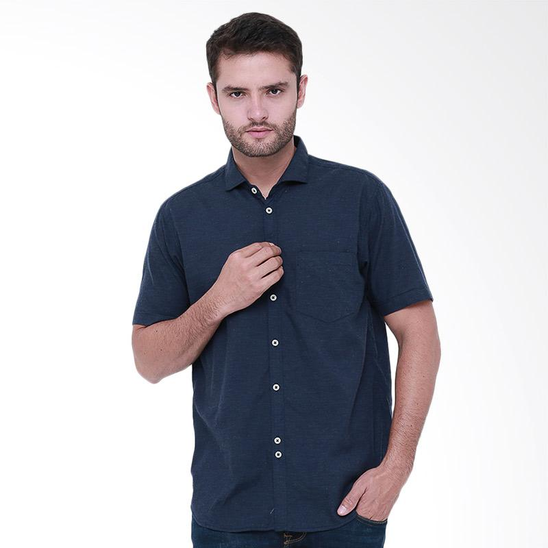 Tendencies Plain Chambray Shirt Kemeja Pria - Navy