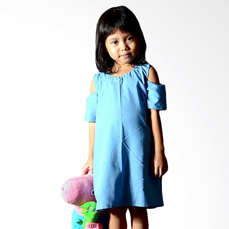 Kirana Kids Wear Selena Dress - Blue Denim