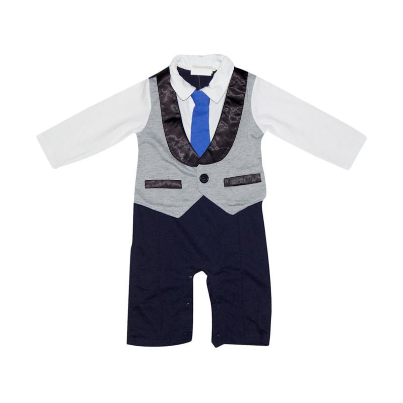 Wonderland Romper Tuxedo Jumpsuit Anak - Multicolor