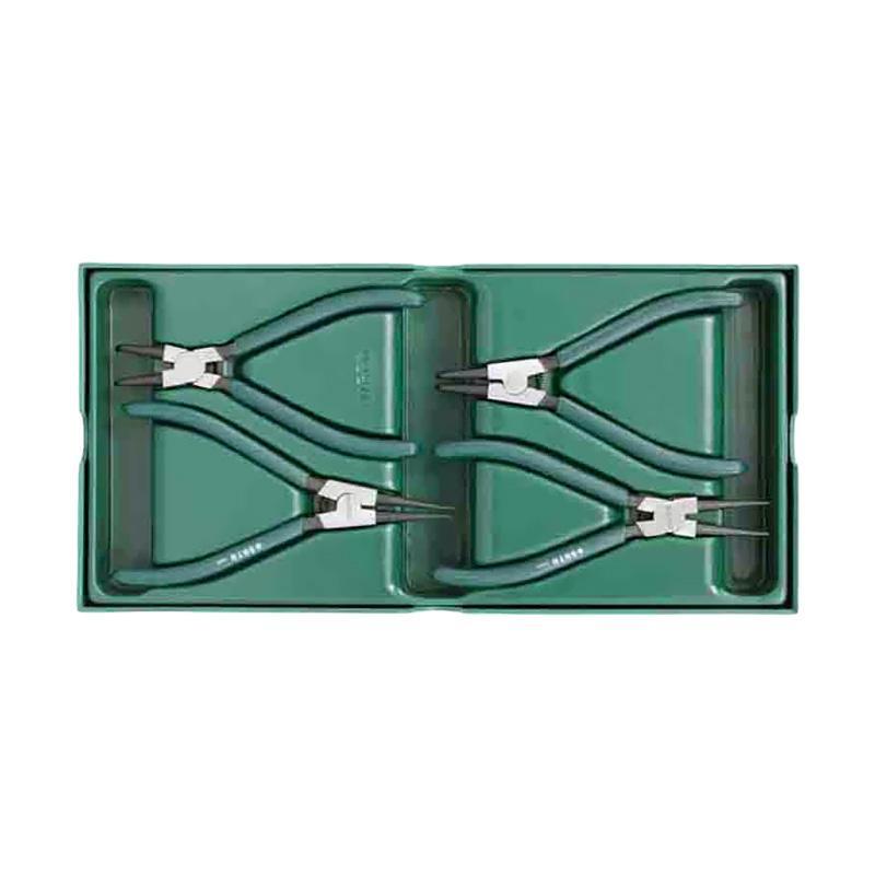 SATA 09911 Snap Ring Pliers Tray Set Tang [4 pcs]