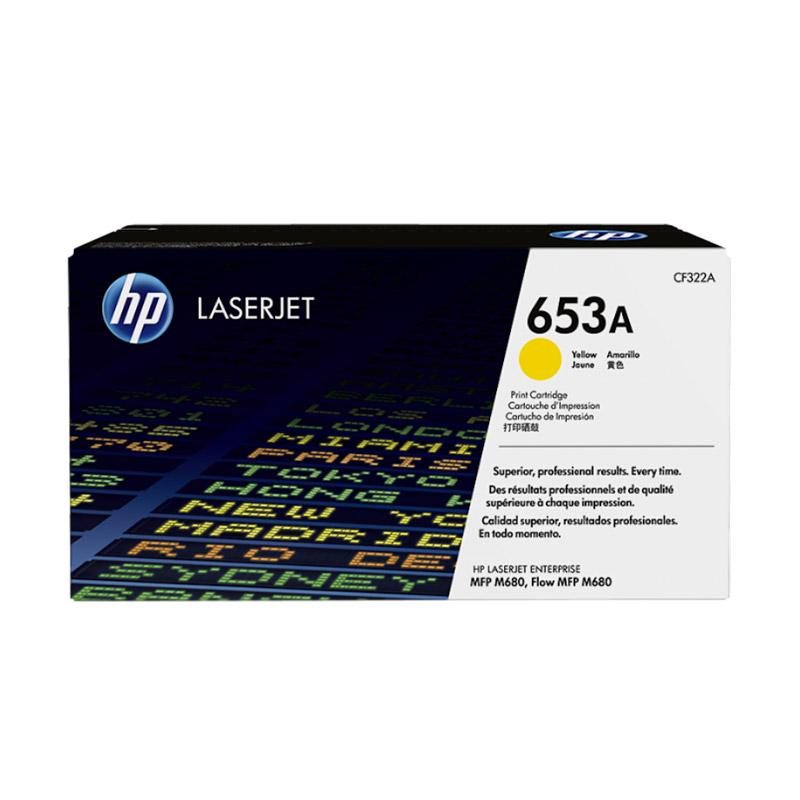 harga HP 653A LaserJet Toner Cartridge - Yellow Blibli.com