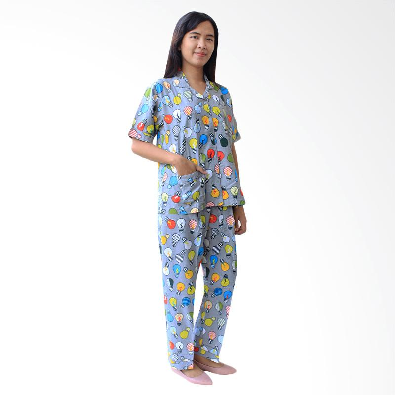 Aily ALY001 Setelan Baju Tidur Wanita - Abu