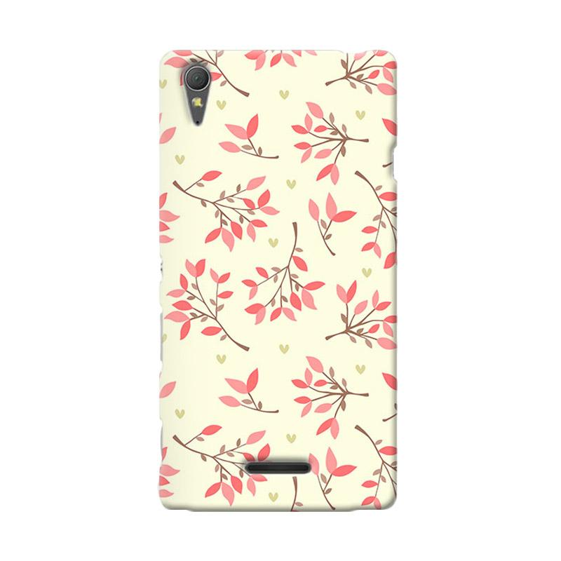 Premiumcaseid Cute Floral Seamless Shabby Hardcase Casing for Sony Xperia T3