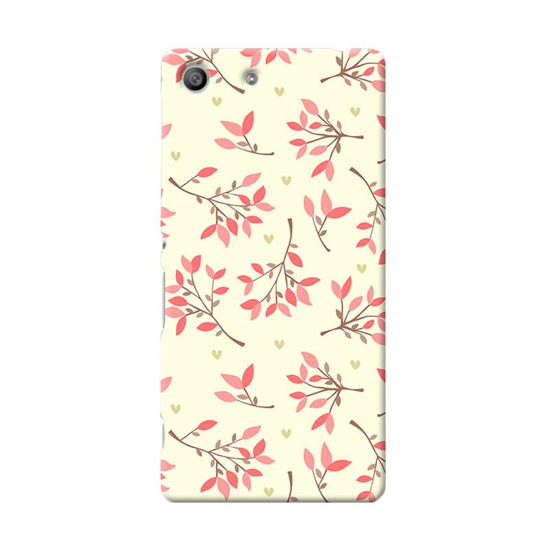 Premiumcaseid Cute Floral Seamless Shabby Hardcase Casing for Sony Xperia M5