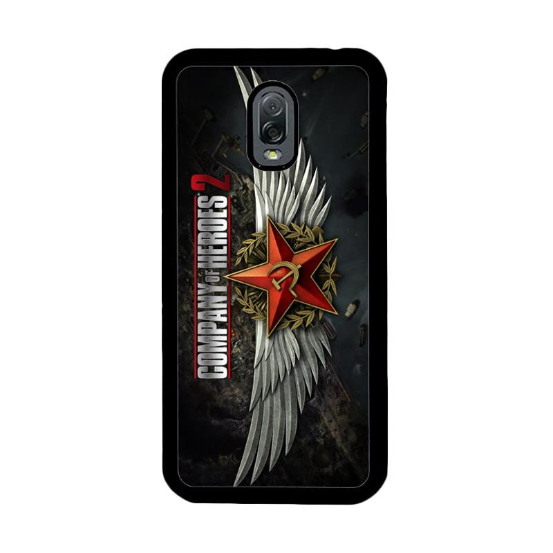 Flazzstore Company Of Heroes Video Game Z1027 Custom Casing for Samsung Galaxy J7 Plus - Black