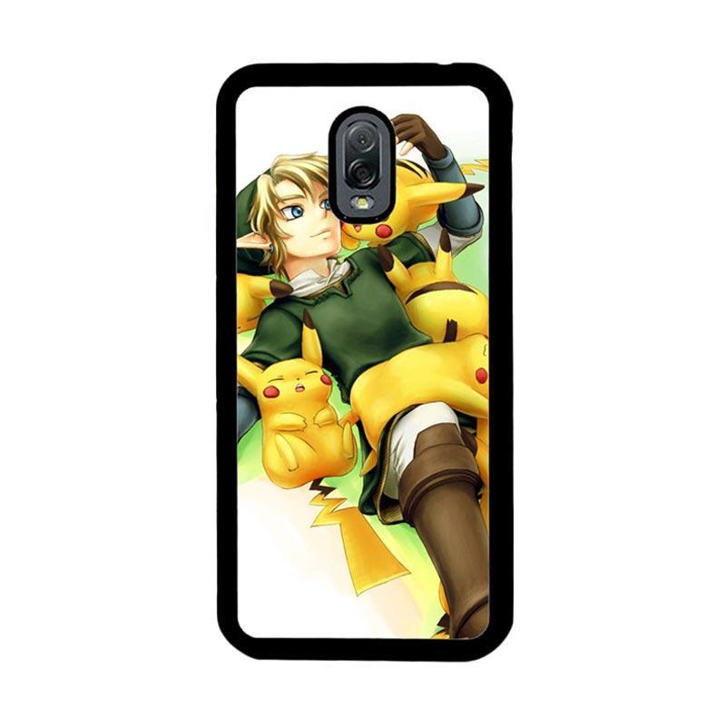Flazzstore Zelda With Pikachu Pokemon Z1061 Custom Casing for Samsung Galaxy J7 Plus