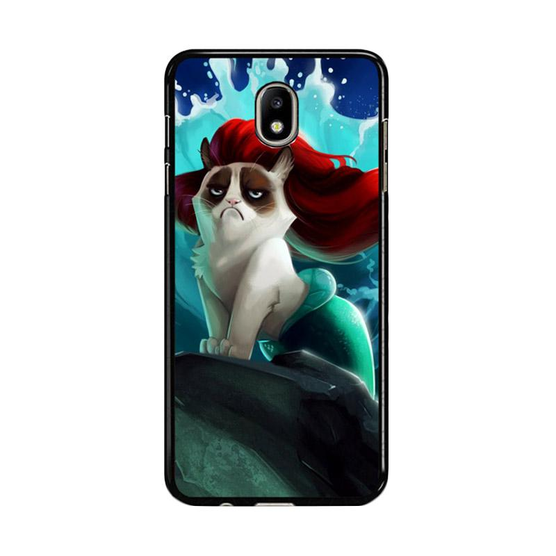 Flazzstore Grumpy Cat And Disney The Little Mermaid Z0023 Custom Casing for Samsung Galaxy J5 Pro 2017