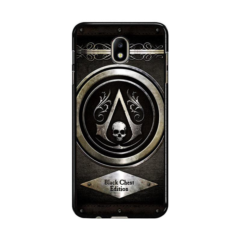 Flazzstore Assassins Creed Black Flag Logo Z0067 Costum Casing for Samsung Galaxy J7 Pro 2017
