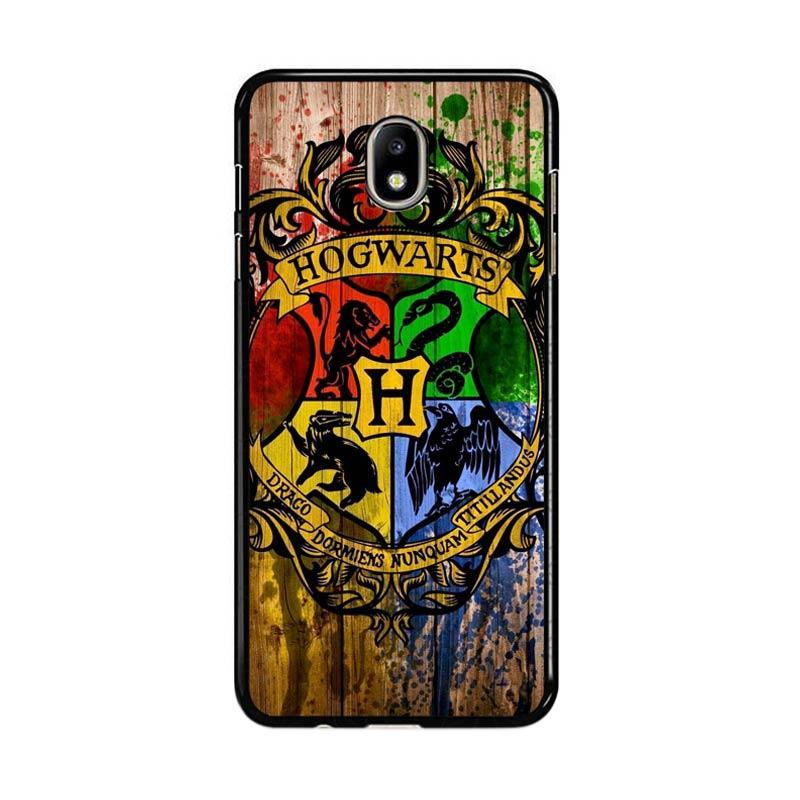Flazzstore Harry Potter Hogwarts Logo Wood Z0295 Custom Casing for Samsung Galaxy J7 Pro 2017