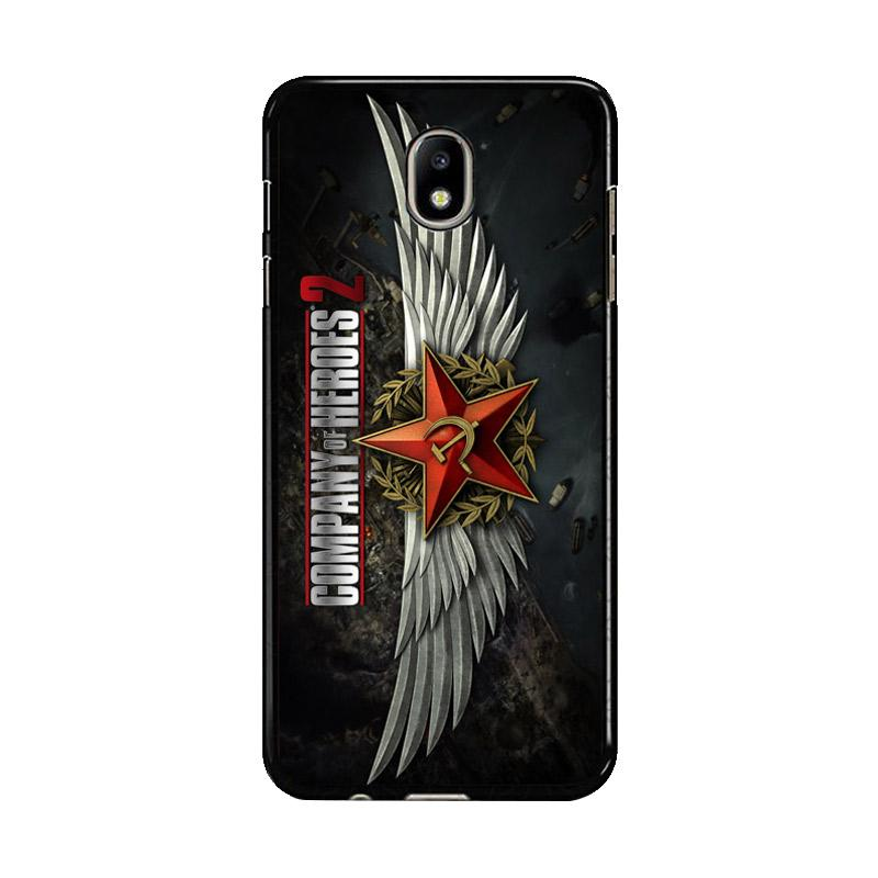 Flazzstore Company Of Heroes Video Game Z1027 Custom Casing for Samsung Galaxy J7 Pro 2017 - Black
