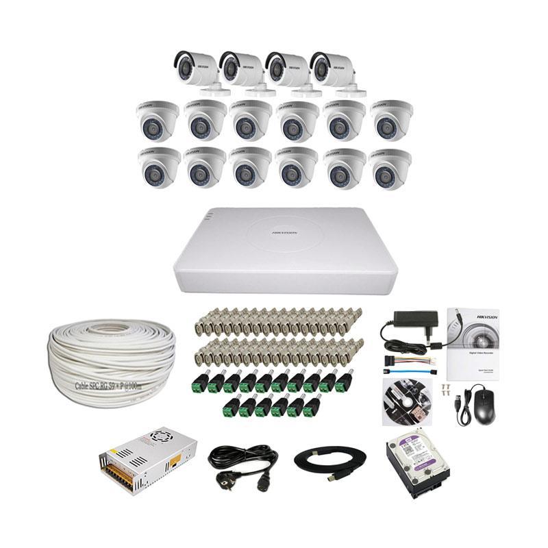 harga Hikvision THD 7116 16CH Paket Lengkap A CCTV [12 In + 4 Out/ 2MP/ 2TB/ 100 m] Blibli.com