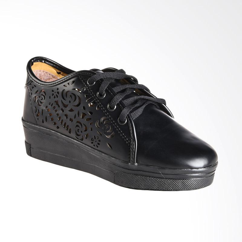 A.C.C.E.P.T Linel Flower Sneaker Sepatu Wanita - Black