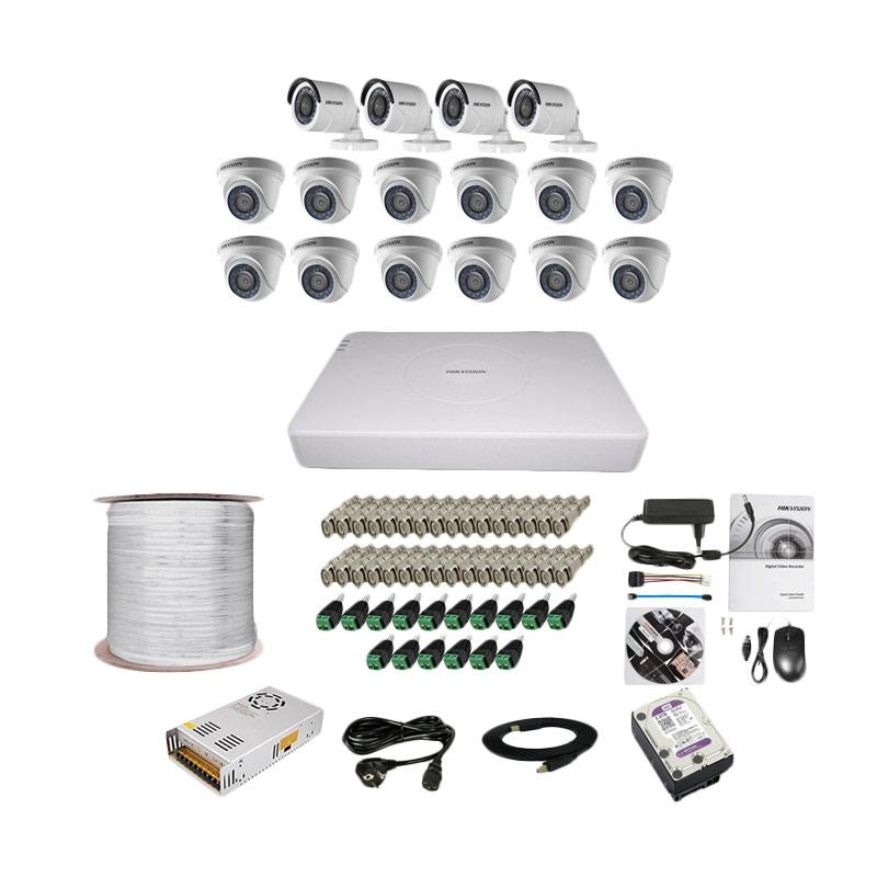 harga Hikvision THD 7116 16CH Paket Lengkap A CCTV [12 In + 4 Out/ 2MP/ 2TB/ 300 m] Blibli.com