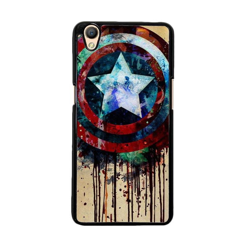 Flazzstore Captain America Shield Art F0155 Custom Casing for Oppo Neo 9 or Oppo A37
