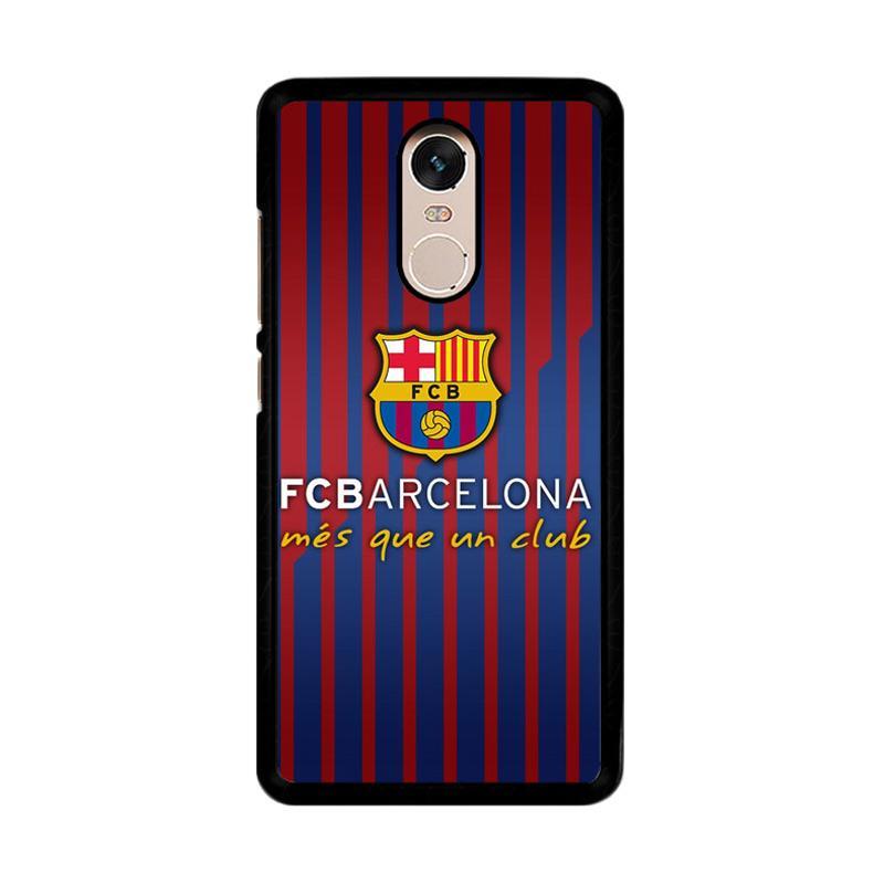 Flazzstore FC Barcelona - Mes Que Un Club O0441 Custom Casing for Xiaomi Redmi Note 4 or Note 4X Snapdragon Mediatek