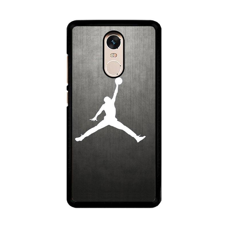 Flazzstore Air Jordan Black Texture O0621 Custom Casing for Xiaomi Redmi Note 4 or Note 4X Snapdragon Mediatek