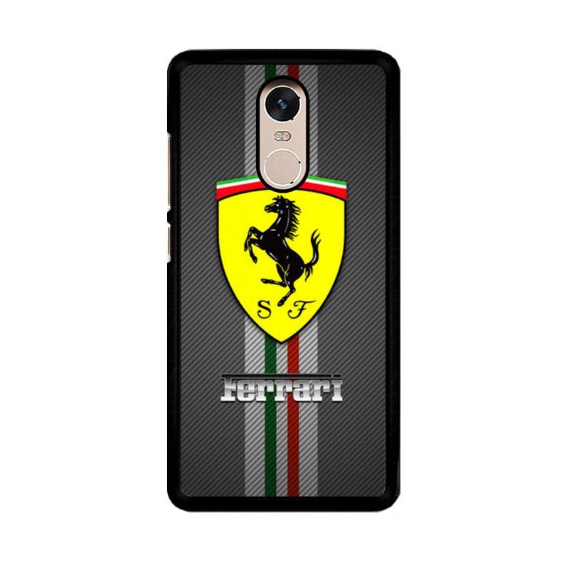 Flazzstore Texture Ferrari Black O0625 Custom Casing for Xiaomi Redmi Note 4 or Note 4X Snapdragon Mediatek