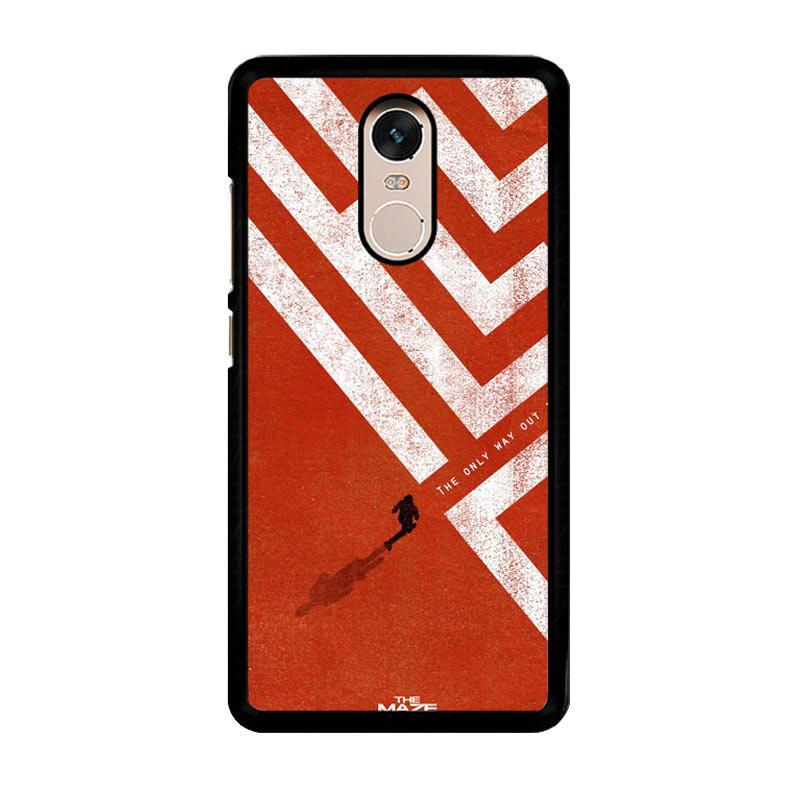 Flazzstore The Maze Runner The Only Way Out Is Within Z0695 Custom Casing for Xiaomi Redmi Note 4 or Note 4X Snapdragon Mediatek