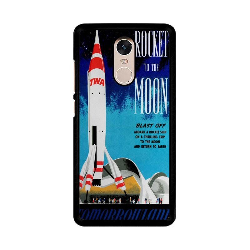 Flazzstore Disney Tomorrowland Rocket To The Moon Z0697 Costum Casing for Xiaomi Redmi Note 4 or Note 4X Snapdragon Mediatek
